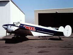 N74JT Beech H18 at Van Nuys, CA in Oct 1981