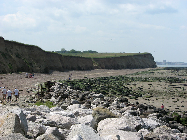 The beach west of Reculver