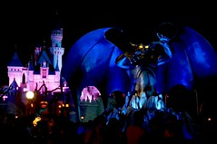 Chernabog Takes Over Hong Kong Disneyland at Night