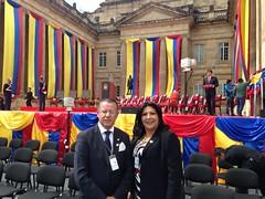 Vicepresidenta del Parlamento Andino participó en la Posesión del Presidente Santos