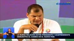 Rafael Correa: El Partido Socialista ha sido el único partido coherente con esta revolución desde sus inicios