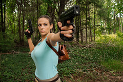 Lara Croft Ready to Shoot