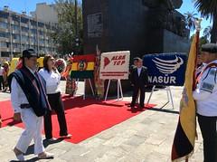 ENTREGA OFRENDA FLORAL POR EL CXC ANIVERSARIO DE FUNDACIÓN DE BOLIVIA