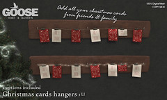 GOOSE - Christmas cards hangers
