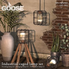 GOOSE - industrial lamp set square AD
