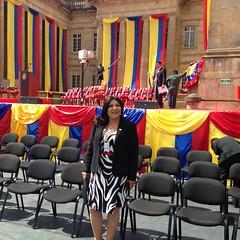 En el Palacio de Nariño en la posesión del Presidente Manuel Santos al que concurrió el presidente ecuatoriano Rafael Correa y el Canciller Ricardo Patino