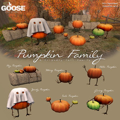 Pumpkin Family gacha set