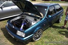 Blue VW Polo Coupe