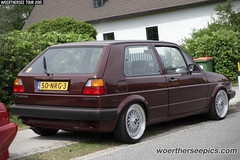 Brown VW Golf Mk2
