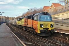 Colas Rail Class 70 No. 70804 at Heworth - 22nd Jan 2019.