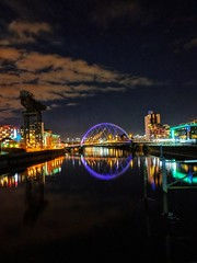 Squinty Bridge and The River Clyde