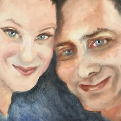 """Another Happy Couple 12""""x12"""" oil"""