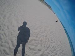 My shadow eating an ice cream.