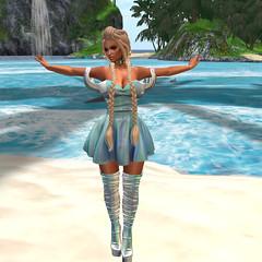 Dress - Caboodle- Fae- HALO/BLUE