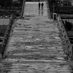 on the bridge /