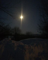 Moonlight is strong at 18 below zero.. #moonlight #morning #snow # below zero #amityfarmbatik