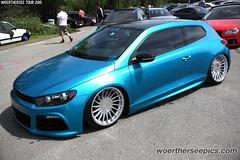 Blue VW Scirocco Mk3 on 3SDM wheels