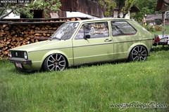 Green VW Golf Mk1