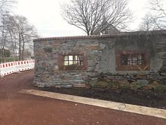 Gartenmauer des Wasserschlosses wurde wieder neu gemauert...