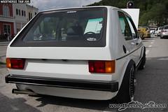 White VW Golf Mk1