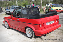 Red VW Golf Mk1 Cabrio