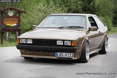 Brown VW Scirocco Mk2