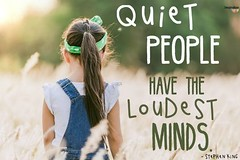 Life Quotes : Quiet Power book for teens is excellent — encouraging quote from Stephen King…