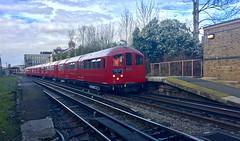 1938 tube stock passing through South Harrow 20/2/19