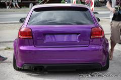 Purple Audi A3