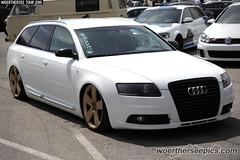 White Audi A6 Avant