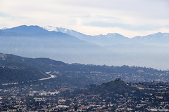 View to the San Bernardino Mountains