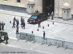Arribo de Barack Obama al Palacio Nacional de México